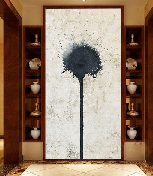 3D Pittura nera 5 Parete Murale Foto Carta da parati immagine sfondo muro stampa