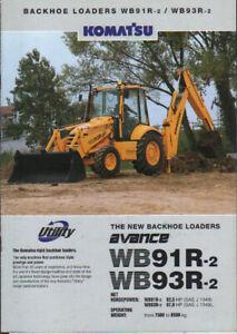 Komatsu-WB91R-2-and-WB93R-2-Backhoe-Loader-Brochure-Leaflet