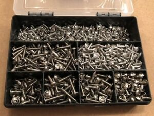 Stainless-Steel-Pozi-Flange-Head-Self-Tapping-Screws-Choice-of-Assorted-Kit-Qty