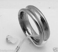 Bold All Polished Concave Wedding Band Ring Stainless Steel Size 8
