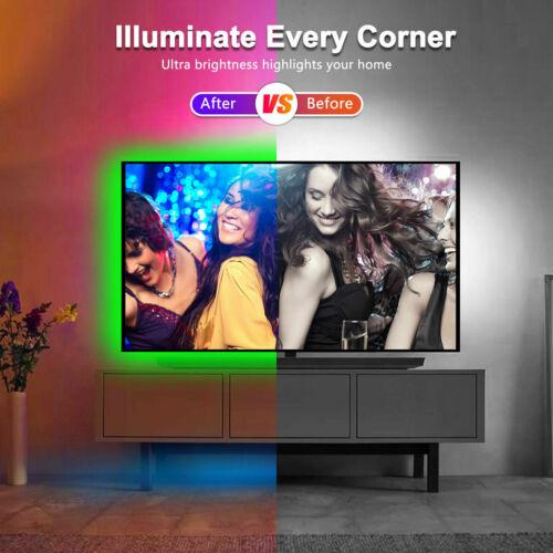 32.8 Feet RGB Waterproof LED Strip Light SMD 44 Key Remote 12V DC Power 3528