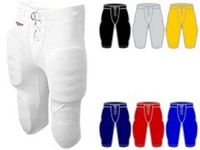 Reebok RBK Youth Boy/'s Dazzle Football Pants w Snaps /& 1//2 Belt Y202H