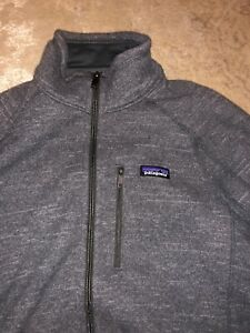 Patagonia-Better-Sweater-Full-Zip-Fleece-Jacket-Gray-Men-039-s-Medium-Like-New