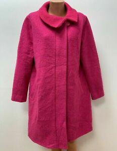 AUßVERKAUF - The MASAI Clothing Company Gr.M / L Mantel Jacke 80%WOLLE Fuschia