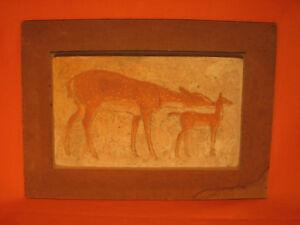 Charles-DELHOMMEAU-1883-1970-Daims-Terre-cuite-Art-Deco-Sculpture-Benezit