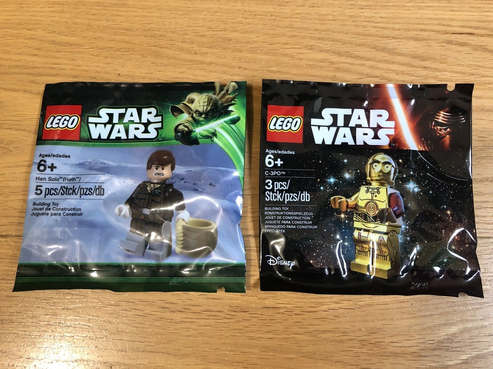 SEALED x2 Lego Star Wars Minifigure Minifigure Minifigure Polybags Collection EXCLUSIVE 21adb4