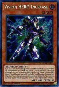 Vision HERO Increase NM 1st Ed YuGiOh BLHR 007 StrikeZoneOnline Secret Rare