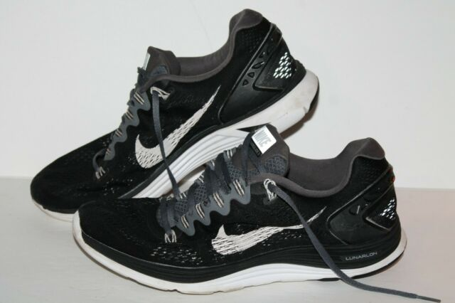 wholesale dealer f5a02 7ff6c Nike Lunarglide 5 + Running Shoes, #599160-011, Black/White, Men's US Size  10.5