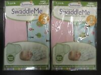 (4) Summer Infant Swaddle Me Adjustable Infant Wrap 7-14lb Sweet Trees -el 1448