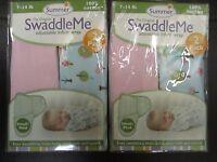 (4) Summer Infant Swaddle Me Adjustable Infant Wrap 7-14lb Sweet Trees -el 1448