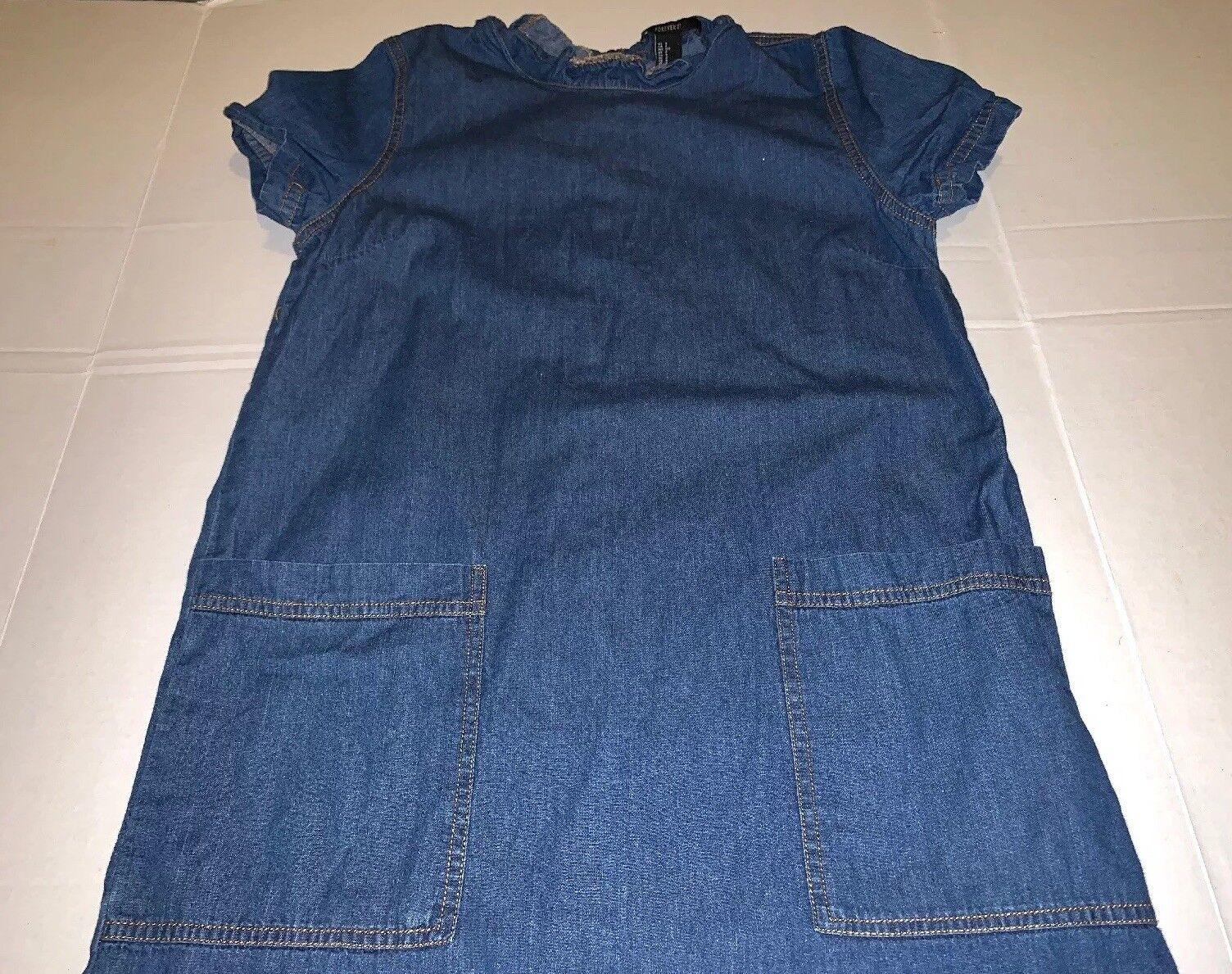 Preowned- Forever21 Dark Wash Chambray Denim Dres… - image 4
