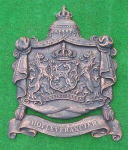 *großes Königliches Wappenschild-antik Bronze Gusseisen Löwen Krone Neu Metall So Effektiv Wie Eine Fee