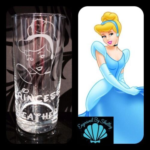 Tangled Glass Handmade FREE Name Engraved Personalised Disney Princess Rapunzel