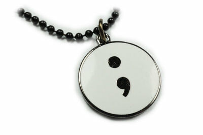 And She Goes On Necklace Mental Health Awareness Suicide Support Semicolon Y