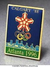 OLYMPIC PINS 1996 ATLANTA GEORGIA USA - POSTER PIN COMMEMORATING 1988 CALGARY