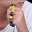 thumbnail 71 - Men-Fashion-Black-Lava-Stone-Gold-amp-Silver-Lion-Beaded-Cuff-Charm-Bangle-Bracelet