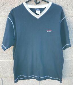 37abe9fd Tommy Hilfiger Tommy Jeans V Neck Cotton Navy 90s Vintage T Shirt ...