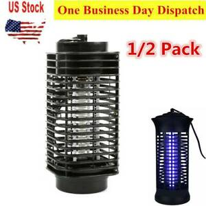 1 2 Pcs Electric Mosquito Trap Bug Zapper Light Emitting