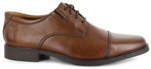 Tan 43 Cap Oxford Shoes 13 Clarks Tilden Uk Leather Toe Dark Hombre Rq5xw0
