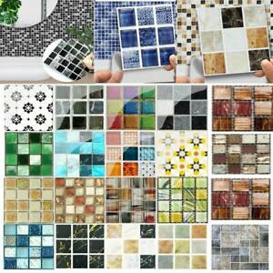 3D-Waterproof-Bathroom-Kitchen-Tile-Mosaic-Sticker-Self-adhesive-Wall-Home-Decor