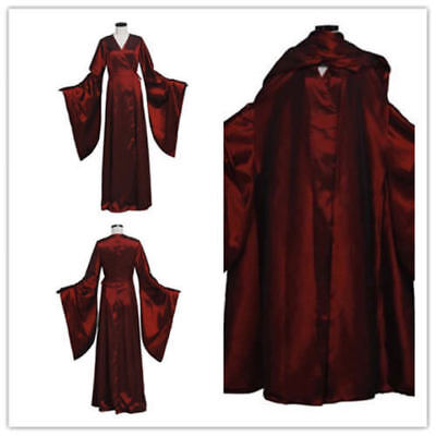 Game of Throne The Red Woman Melisandre Cosplay Costume Red Dress Custom Made
