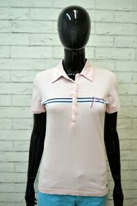 Polo-MELTIN-POT-Donna-Taglia-S-Shirt-Manica-Corta-Maglia-Rosa-T-Shirt-Elastica