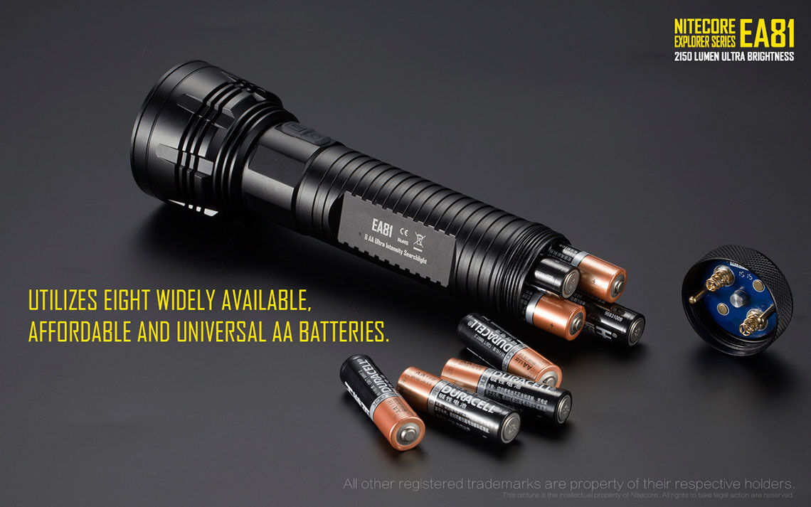 Nitecore EA81 Flashlight + -2150Lm + Flashlight Nitecore NU20 Rechargeable Headlamp 8c2323