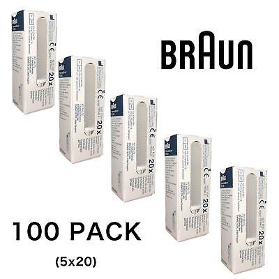 100 X Braun Replacement Lens Filtro Copre Sonda Per Termometro Thermoscan 6520-mostra Il Titolo Originale
