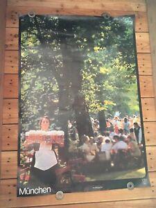 Vintage-Oktoberfest-Germany-Beer-Bar-Maid-Munchen-Poster-Sign-Beer-Man-Cave