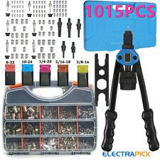 1015pcs Rivet Gun Kit Rivnut Thread Setting Tool Nut Setter Nutsert Metric Sae