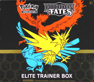 1 Pokemon Sun /& Moon Hidden Fates Elite Trainer Box Pokemon NM Trusted Seller