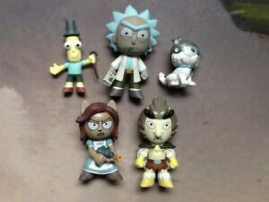 Funko-Mystery-Mini-Lot-Of-5-Rick-amp-Morty-Snowball-Bird-Person-Poopy-Butthole
