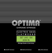 Optima/Maxima Chrome Bass Strings 45-100 Flatwound Long Scale