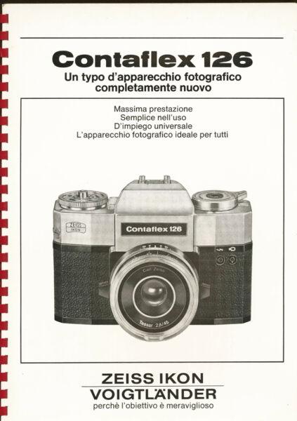"""Zeiss Ikon Splendido Raro Depliant """"contaflex 126"""" Rilegato Per Negozianti E536"""