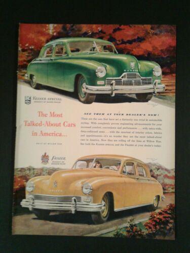 1947 Kaiser Frazer Car Graham Paige Memorabilia Promo Trade Ad