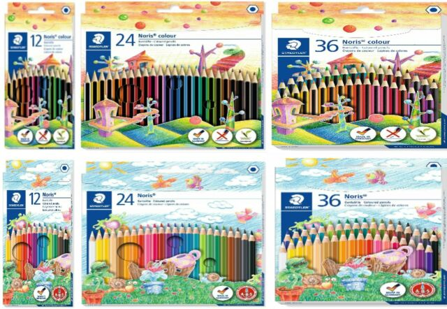 STAEDTLER Noris Colour Wopex Colouring Pencils Pack of 36 Assorted Colours New
