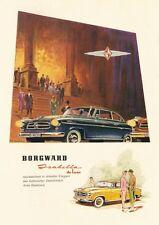 BORGWARD Isabella De Luxe automobilistica MANIFESTO 1959 fac simili 60
