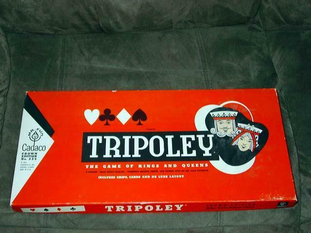 TRIPOLEY 1962 - Game of Kings & Queens - Combines Poker, Hearts & Rummy (SEALED)