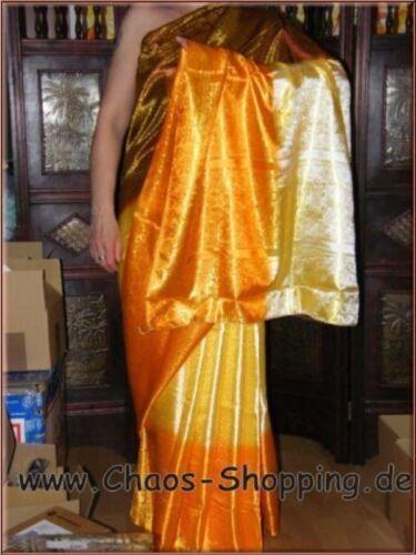 Indischer Sari Bollywood Sari Saree 3-Farbig