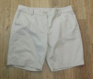 "ANN TAYLOR LOFT Bermuda Walking SHORTS - Womens Size 12 - 9"" Inseam Beige"