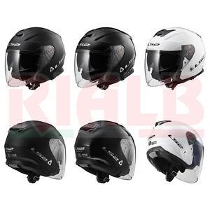 Casco-Helmet-Jet-LS2-OF521-INFINITY-SOLID-per-moto-scooter-doppia-visiera-fume