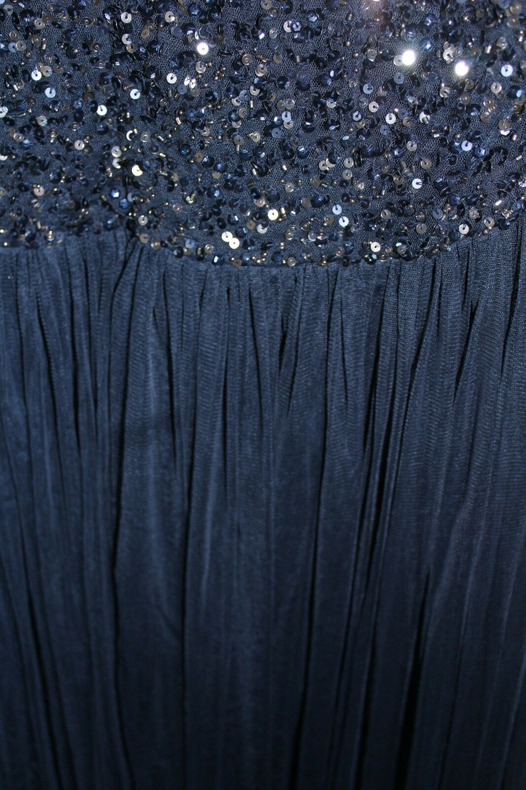 Lovedrobe Maxi Dress With Tonal Delicate Sequins Sequins Sequins Navy Größe UK 18 DH089 OO 13 572a06