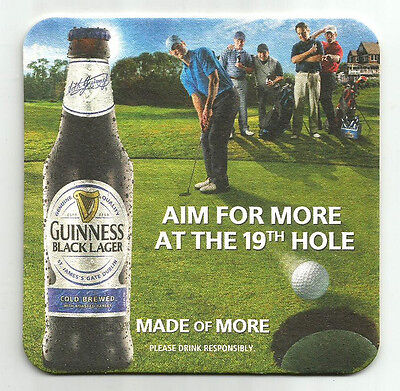 15 Guinness Black Lager Aim For The 19th Hole  Beer Coasters  Golf Theme