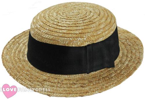 24 X DELUXE STRAW BOATER HAT 1920/'S FANCY DRESS BULK MULTIPACK JOBLOT HATS