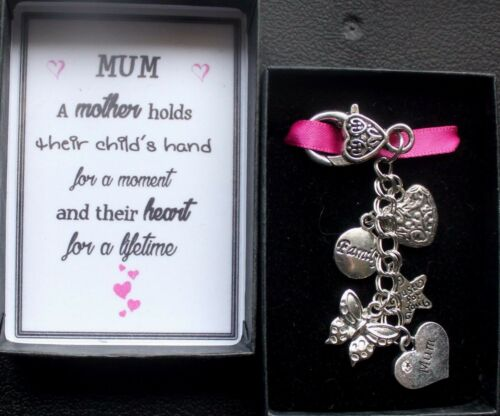 mothers day etc Keyring Keepsake Gift MUM for any occasion Boxed with message