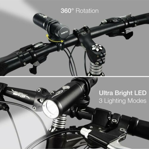Avantek BF-H08 Bicycle Flashlight with Tail Light Rechargeable Headlamp Set