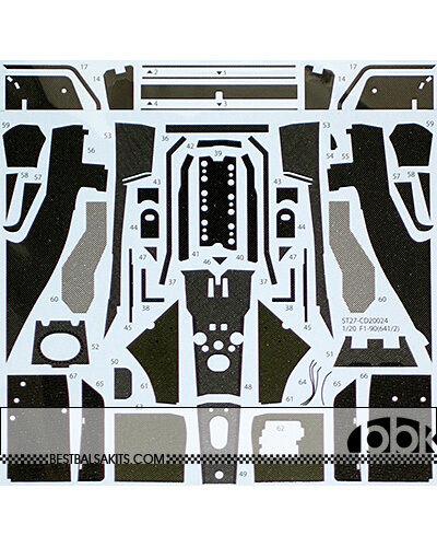 1   20 ferrari - 641   2 f190 full - carbon - aufkleber fr fujimi mansell prost