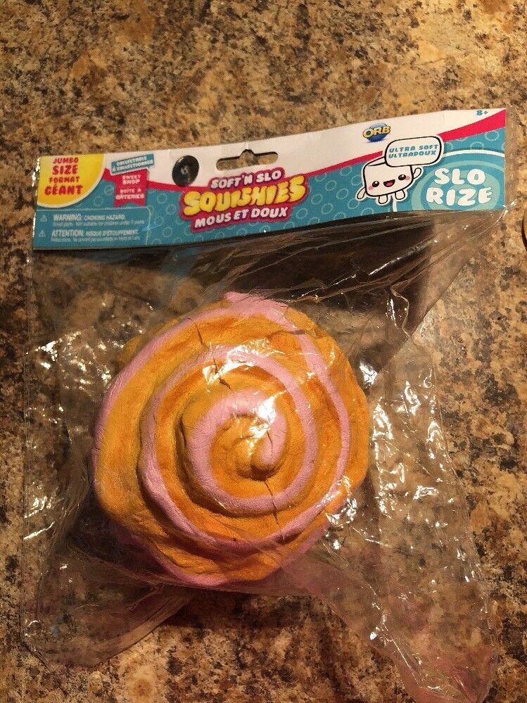 RARE ORB Soft'n Slo Squishies Soft N SLO Jumbo Cinnamon Roll PINK sweet Shop