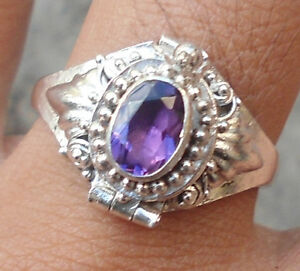 925-Sterling-Silver-RP02-Balinese-Poison-Box-Ring-With-Amethyst-Cut-Size-7