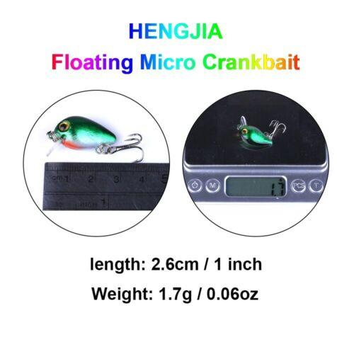 10pcs//Box 2.6cm//1.7g Crankbait Topwater Fishing Wobbler Lures Hard Bait Swimbait